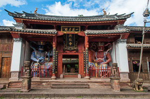 An old traditional Chinese theater in Shaxi, Yunnan, China
