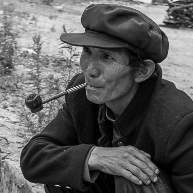 A local man from the Naxi ethnic group