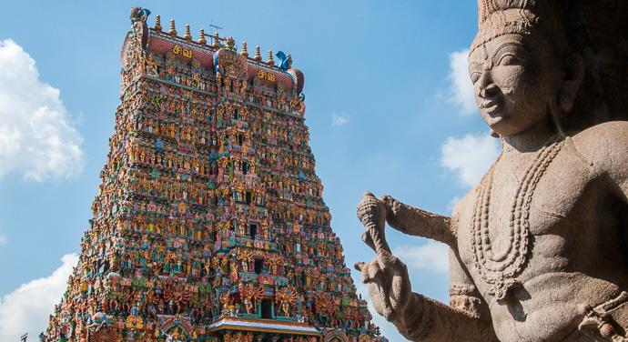 Southern India, Madurai, the Meenakshi Temple
