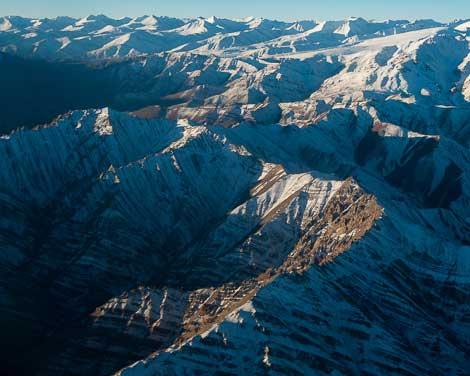 The Ladakh Himalaya in winter, northern India