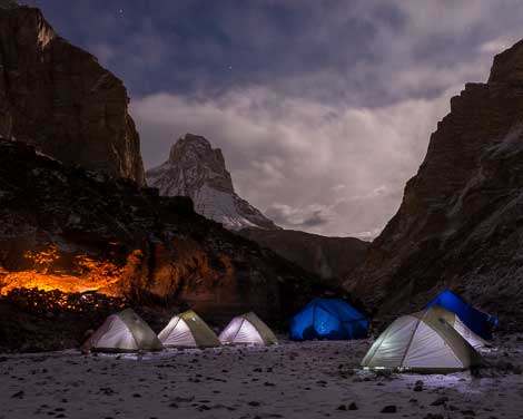 WInter campsite in Ladakh, India