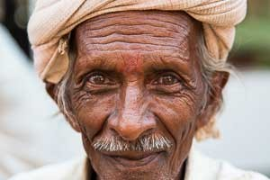 Portrait of local Gujarati, India