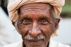 Portrait of local Gujarati man, India