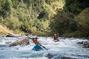 Kayaking in Laos
