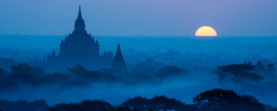 A temple at sunrise, Bagan, Myanmar