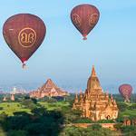 ballooning in Bagan Myanmar