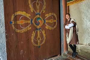 Karma Tshering at Punakha Dzong, Bhutan
