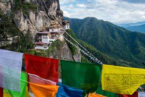 Bhutan, Taktsang monastery, also known as the Tiger's Nest