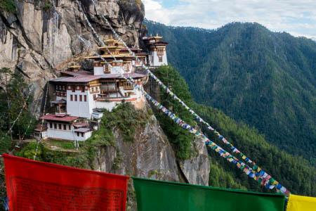 Bhutan, Paro valley, Taktsang monastery a.k.a. the Tiger's Nest.